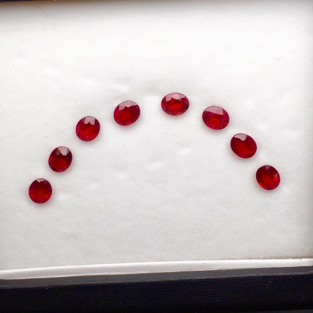Ruby Gemstones 4.25ct Unheat Faceted Natural Pigeon Blood Red Ruby Loose Gemstones Rubi Loose StonesRuby Gemstones 4.25ct Unheat Faceted Natural Pigeon Blood Red Ruby Loose Gemstones Rubi Loose Stones
