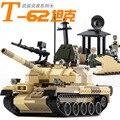 2016 Nueva Serie Tanque Militar WW2 Rusia La T-62 tanques de batalla principal modelo de Bloques de Construcción de juguete Clásico GUDI 60019A