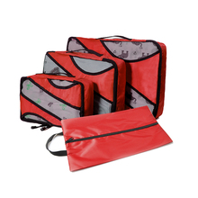 3 Set Packing Cubes Travel Luggage Packing Organizers with Laundry Bag (Grey)(Red)(Green) Overnight Bag Duffle Bags Weekend Bag bagsmart 7 pcs set packing cubes travel luggage packing organizers unisex weekend luggage bag travel organizers with laundry bag