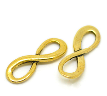Doreen Box Lovely 30PCs golden tone  Infinity Symbol Connectors 23x8mm(7/8″x3/8″) (B20955)