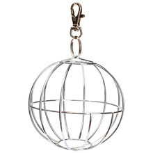Stainless Steel Round Ball Food Feed Dispenser Hanging Ball Toy for Rabbit Guinea Pig Hamster Rat Pet Supplies Toy Decoration