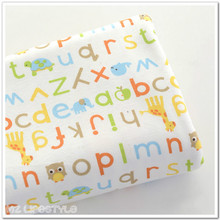 50*170cm  knitting cloth baby bib clothes coated bedding letter small tortoise