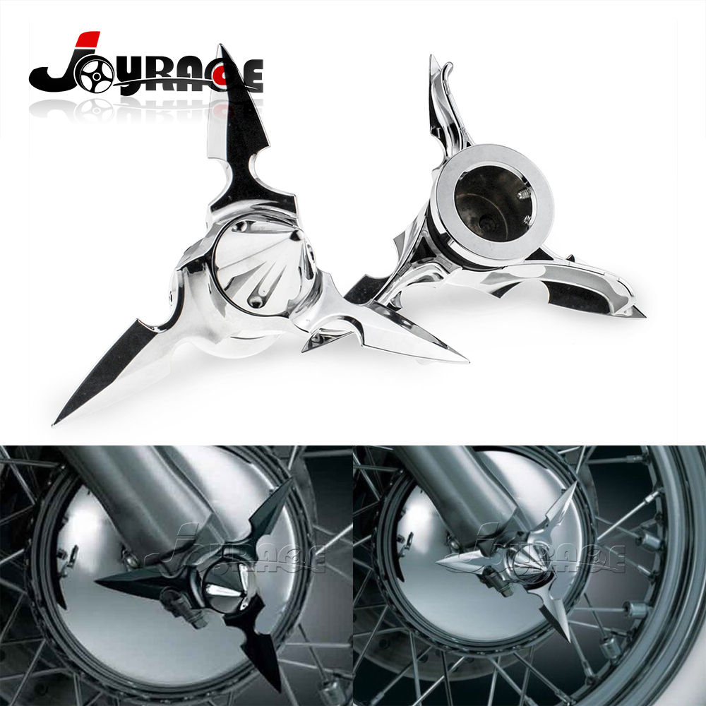 Spun Blade Spinning Front Axle Cap Nut Cover For Harley Dyna Touring XL XG chrome black spun blade spinning front axle cap nut cover case for harley dyna touring xl xg