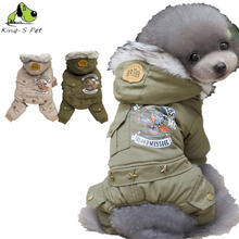 Neue Baumwolle Haustier Hund Katze Brief Gedruckt Kostüm Warme Winter Hunde kleidung Mantel 100% Warme Baumwolle Jacke Vier Bein Kleidung Für Hunde