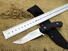 Browning Small Hunting Knife Fixed Blade Knife With Copper Head + Bionic Handle Tactical Knife Survival Camping Knife Tool