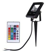Led Spotlight 10W Flood Light Waterproof IP65 Reflector Led Floodlight Garden RGB Remote Controller Spot AC 85-265V