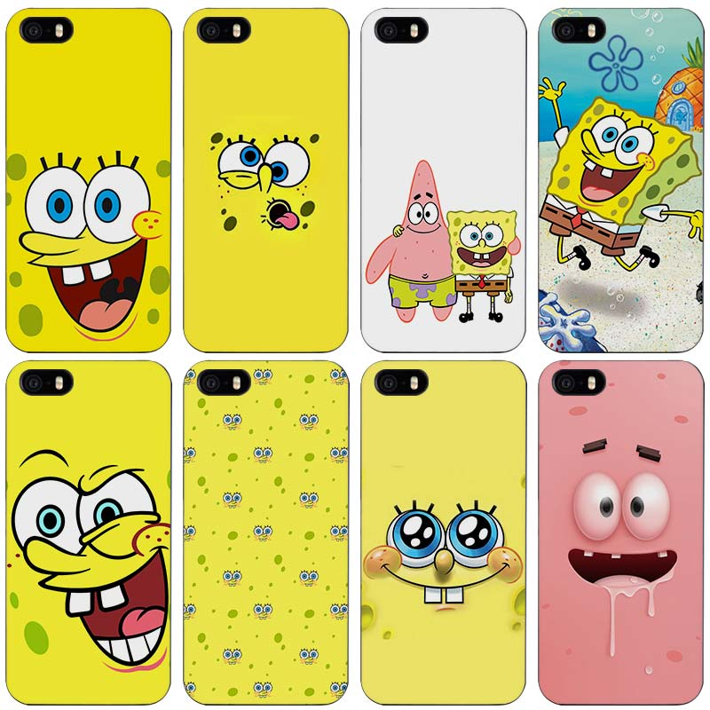 detailing ee9dc 57544 SpongeBob Black Plastic Case Cover Shell for iPhone Apple 4 4s 5 5s SE 5c 6  6s 7 Plus on Aliexpress.com | Alibaba Group