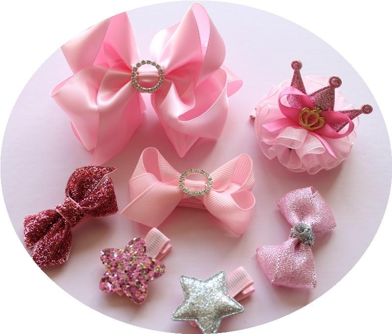 1 dəst yay qız uşaqları cute bowknot saç klipləri pin barrette - Geyim aksesuarları - Fotoqrafiya 2