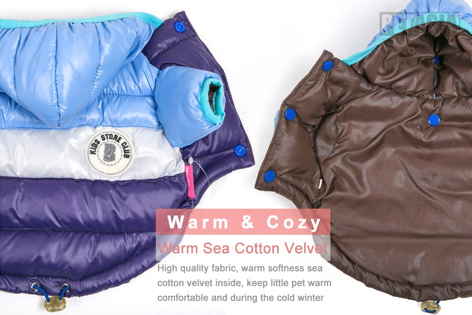Nueva ropa de invierno para perros, abrigo impermeable con capucha 4