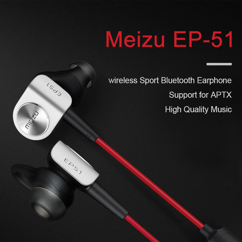 original Meizu EP-51 EP51 Bluetooth Headset wireless auriculares clear bass sport earphone with mic deep purple deep purple live in stockholm 1970 2 cd dvd