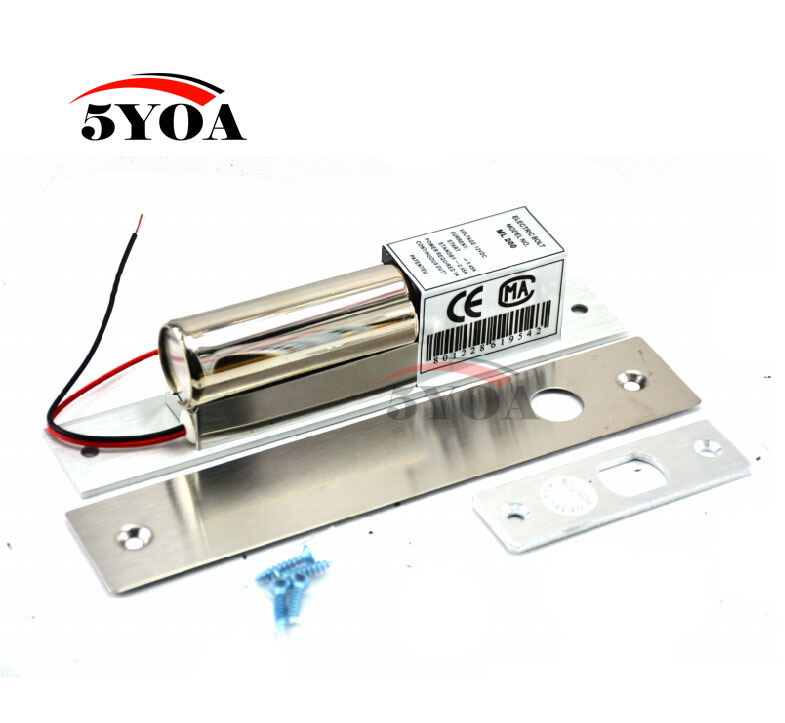 Electric Bolt Lock 2 Lines DC 12V Stainless Steel Heavy duty Fail Safe Drop Door Access Control Security-in Electric Lock from Security & Protection