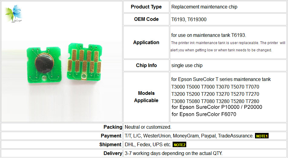 T6193 maintenance chips