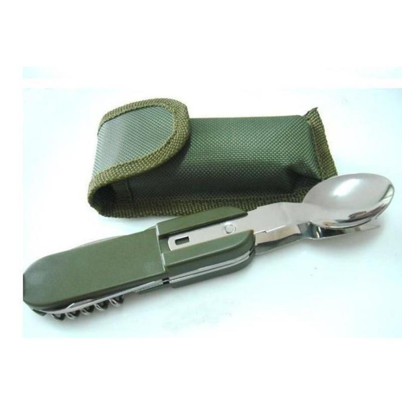 Cubiertos camping tool stainless steel steel multifunction tableware knife fork fork spoon - Cubiertos camping ...