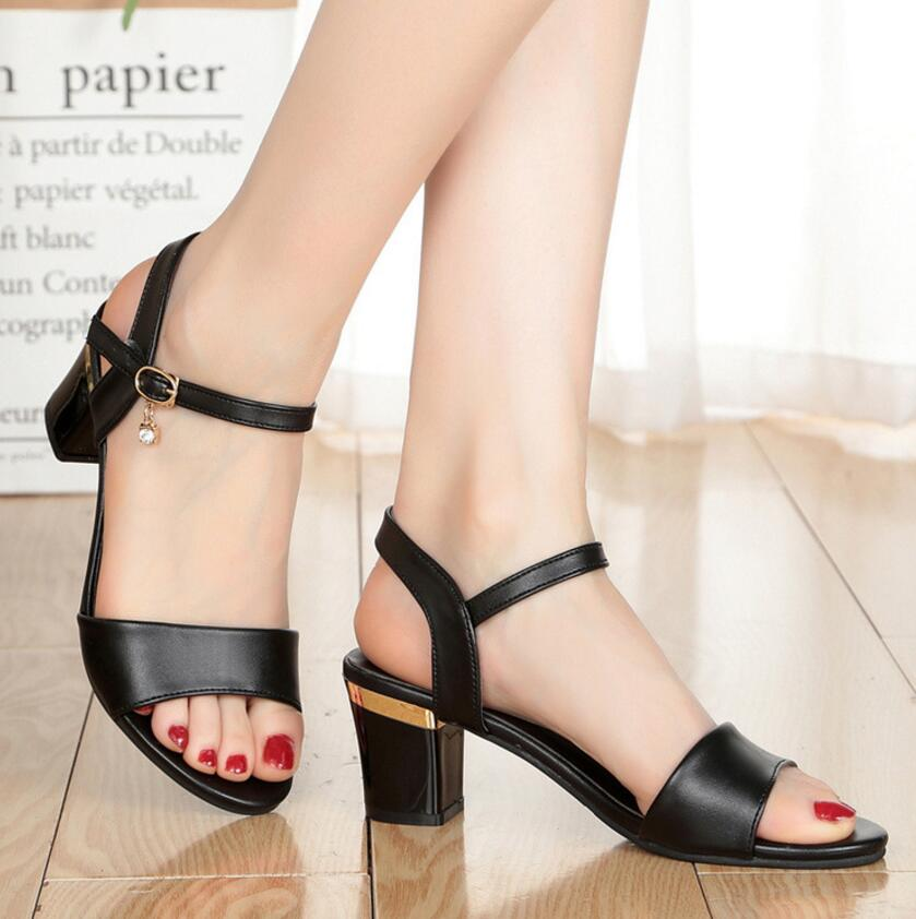 Ankle Strap Heels Women Sandals Summer Shoes Women Open Toe High Heels Party Dress Sandals Big Size 42 L74Ankle Strap Heels Women Sandals Summer Shoes Women Open Toe High Heels Party Dress Sandals Big Size 42 L74