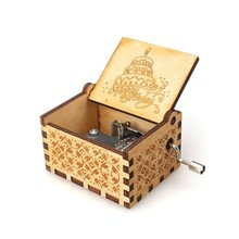 Queen and other Magical Music Boxes Wooden Hand Cranked