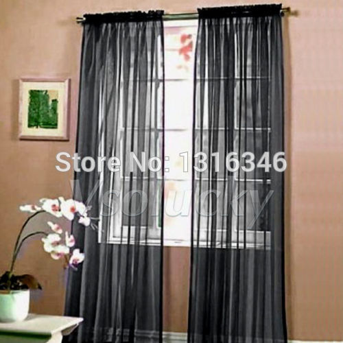 Popular Black Sheer Curtains-Buy Cheap Black Sheer Curtains lots ...