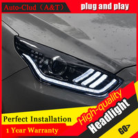 Auto Clud Car Styling For Ford Escort Headlights 2015 For Escort Head Lamp Led DRL Front