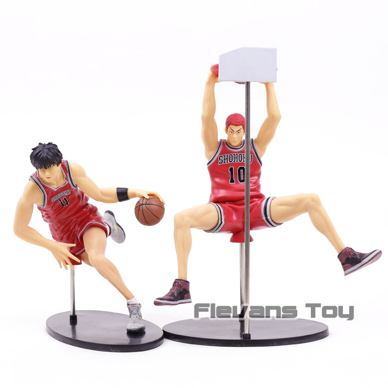 Anime Slam Dunk Dribbling Version Rukawa Kaede Hanamichi Sakuragi Scene Version GK PVC Action Figure Collectible Model Toy anime slam dunk akagi takenori action figure pvc classic collection toy model garage kit doll