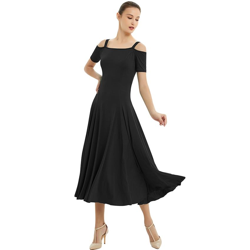 Ballroom Dance Dresses Summer New Short Sleeve Lace Dancing Costume Women Waltz Ballroom Competition Dance Dress