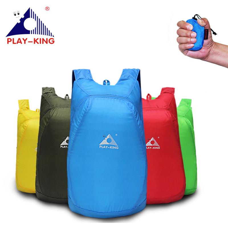 PLAYKING Lightweight Nylon Foldable Backpack Waterproof Backpack Folding bag Ultralight Outdoor Pack for Women Men Travel Hiking|Climbing Bags| |  - title=