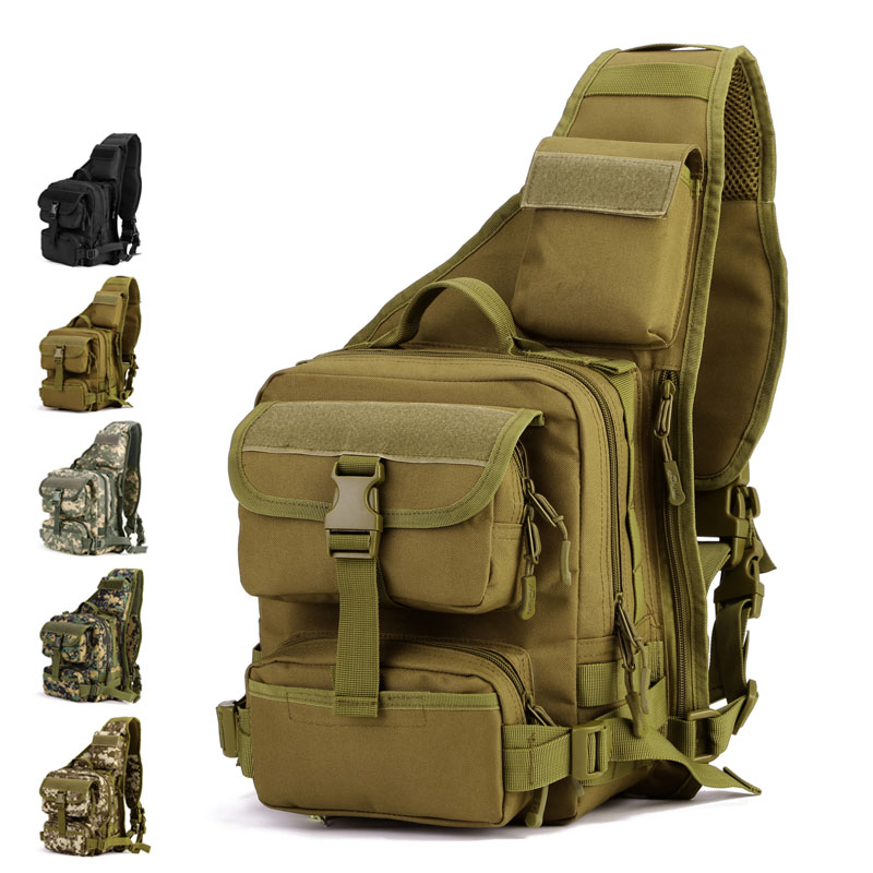 Camping & Hiking Sports & Entertainment Army Military Hunting Camouflage Single Shoulder Cross Body Pack Outdoor Hiking Camping Tactical Bags For Men Women