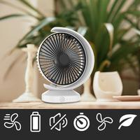 USB Personal Portable Desk Table Quiet Fan Rechargeable Battery Operated Travel Fan for Desk Camping Sleeping Laptop Office Room
