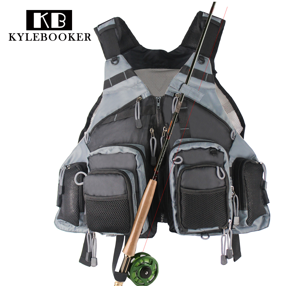 Black Hunting Vest  Fly Fishing Mesh Multifunction Pockets Outdoor Sports Backpack bag