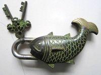 Chinese bronze türschloss goldfischform auspicious besser als jedes jahr alt