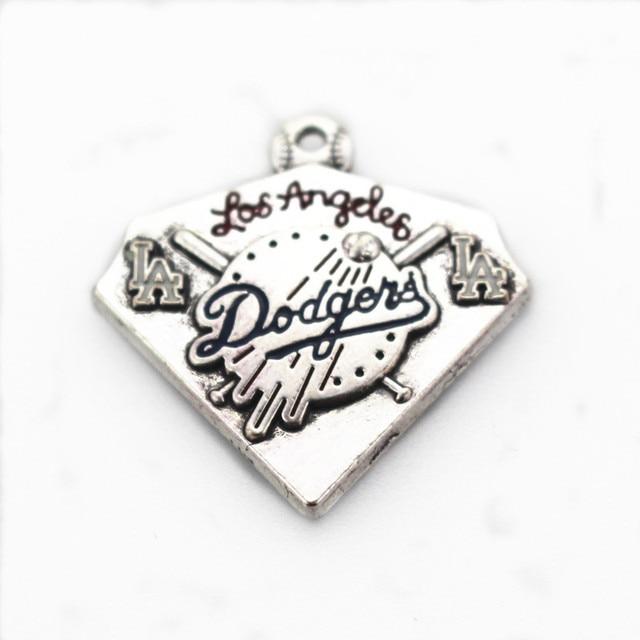 American sport 10pcs/lot baseball sport Dodgers dangle charm Pendants DIY bracelet jewelry accessory hanging charm