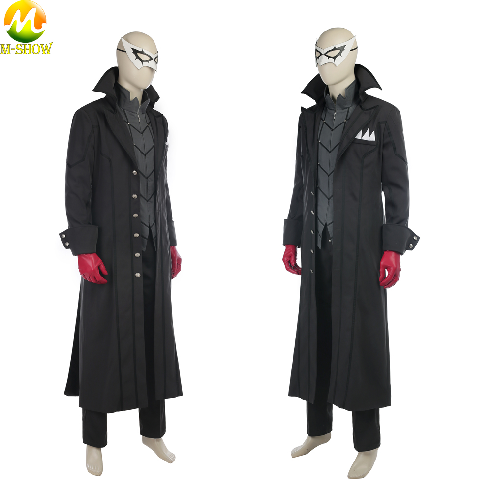 Persona 5 Protagonist Cosplay Costume Akira Kurusu Uniform Cosplay Full Set Outfit Halloween Costume For Men Custom Made