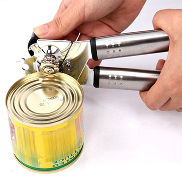 Hot Multifunctional Stainless Steel Professional Tin Manual Can Opener Craft beer Grip Opener Cans Bottle Opener kitchen gadgets