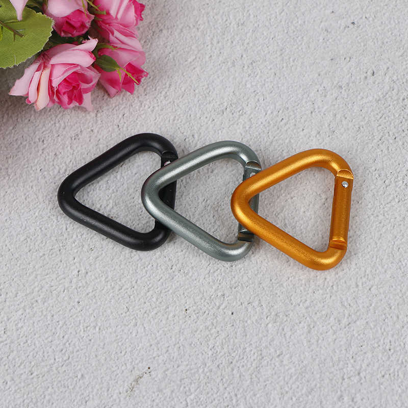 Hiking Keychain Triangle Carabiner Water Bottle Hook Kettle Buckles Snap Clip