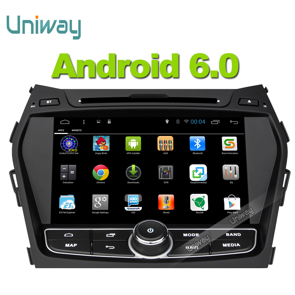 Uniway2 din android 6.0 car dvd player gps for Hyundai Santa FE/IX45 2013 2014 car radio video gps navigation support 4G wifi