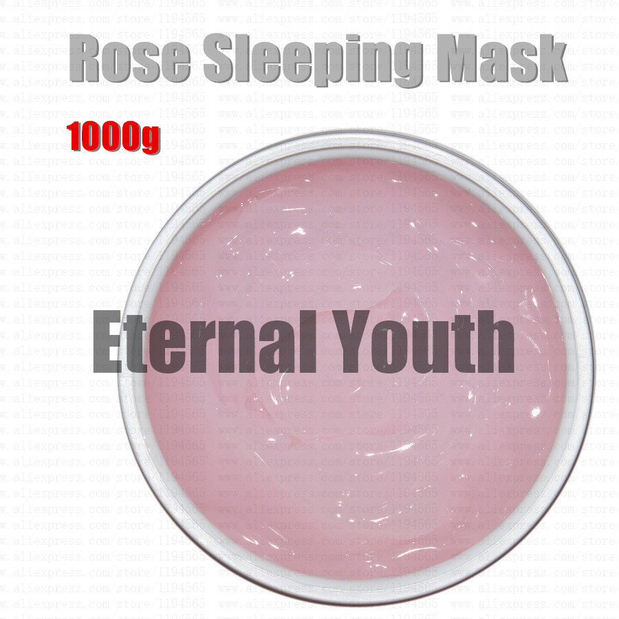 1kg Rose Sleep Mask Face Care Moisturizing Whitening Dark Spot Remover Anti Wrinkle Anti Aging Skin Care Disposable Facial Mask whitening blemish serum black melanomas downplay the spot whitening skin care 7 1000ml cream for black spot free shipping