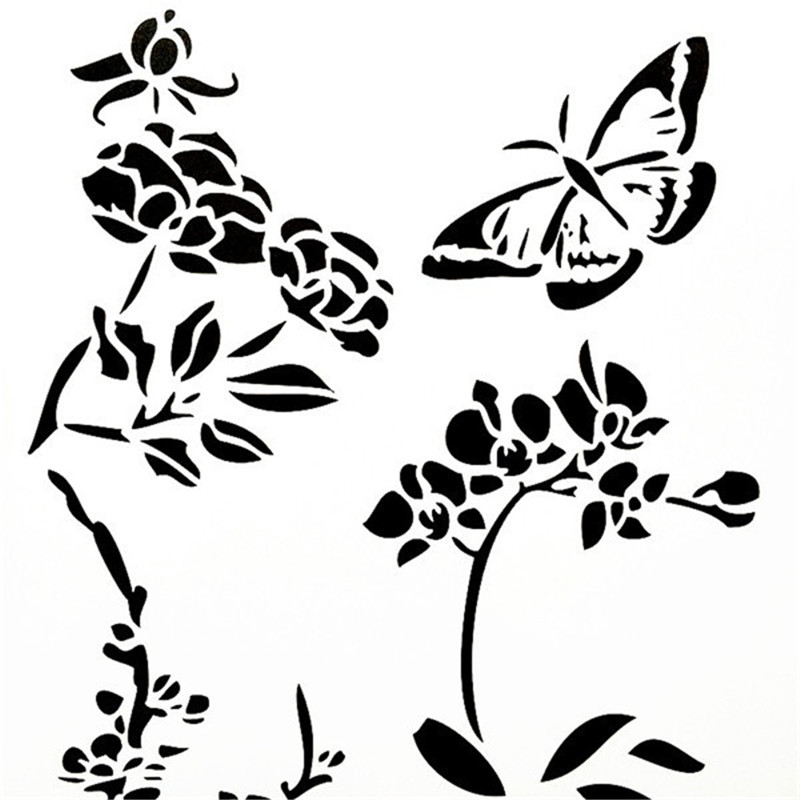 A4 Size DIY Craft Flying Butterfly Design Layering Stencil Template For Wall Painting Scrapbooking Stamping Photo Album Decor