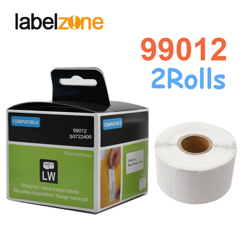 2Rolls 99012 Label 36mm*89mm Thermal Paper Compatible for Dymo LabelWriter 400 450 450Turbo Printer SLP 440 450 260pcs/roll2Rolls 99012 Label 36mm*89mm Thermal Paper Compatible for Dymo LabelWriter 400 450 450Turbo Printer SLP 440 450 260pcs/roll