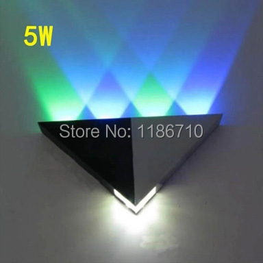 5w LED wall lamp triangular wall lamp KTV wall lamp porch lights decoration lamps and lanterns is free shipping