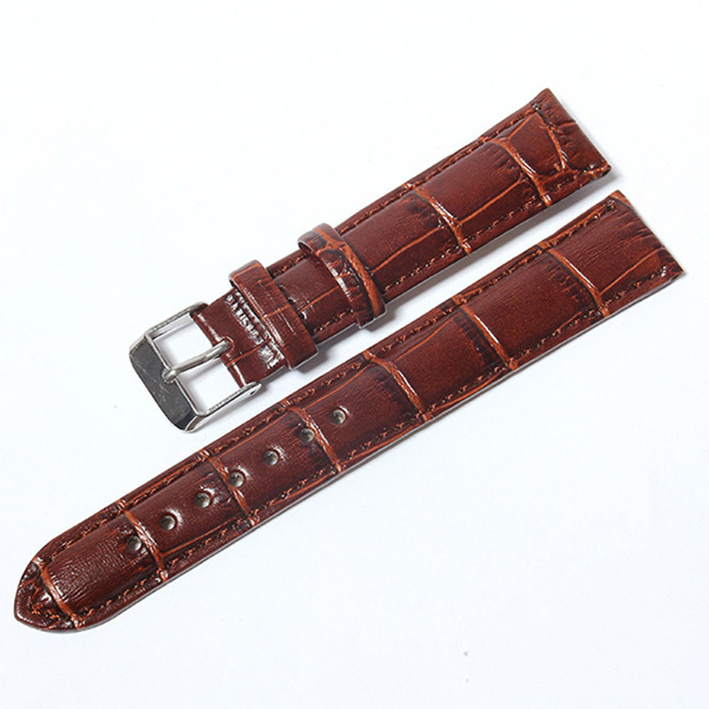 2 color Crocodile Pattern <font><b>Leather</b></font> Strap <font><b>Watch</b></font> <font><b>Band</b></font> Strap for Hours Watchband size 12 13 14 16 18 19 20 21 <font><b>22</b></font> 24 <font><b>mm</b></font> image
