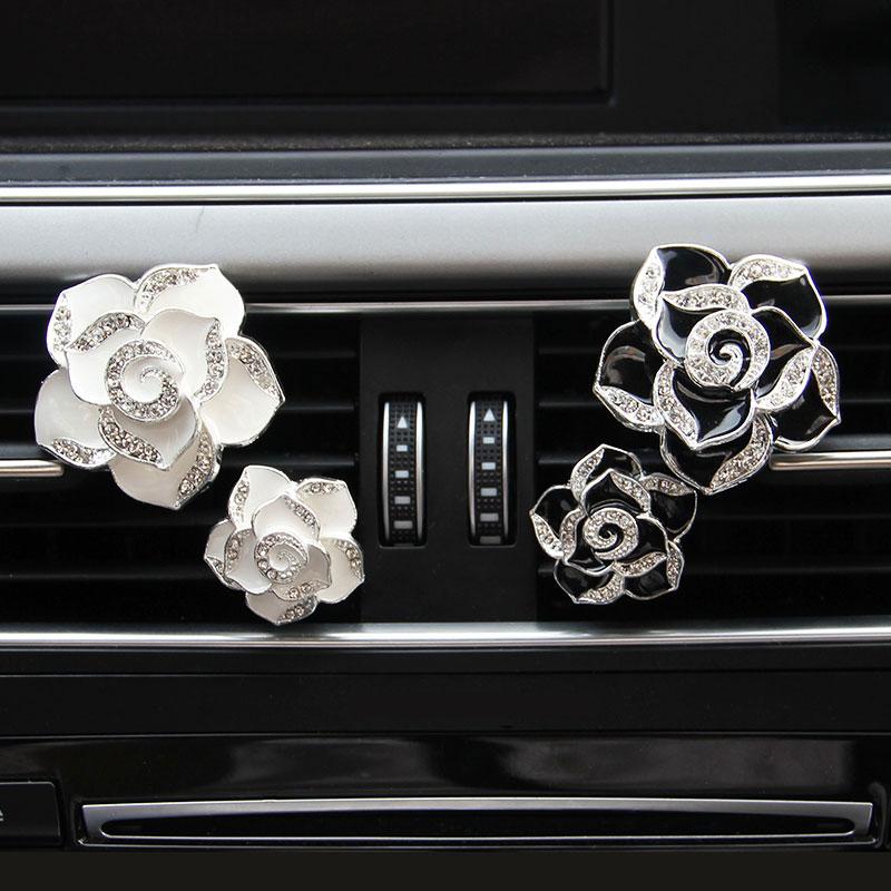 1 шт. автомобильный Цветок Твердый вентиляционный зажим духи Алмазный кондиционер цветы стиль
