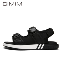 CIMIM Mens Grote Maat Sandalen Liefhebbers Mode Toevallige Slippers Lederen Zwart Outdoor Schoenen Heren Zomer Strand Sandalen