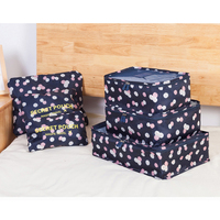 New 6pcs Set Women Men Travel Storage Bag Waterproof High Capacity Luggage Clothes Tidy Storage Pouch