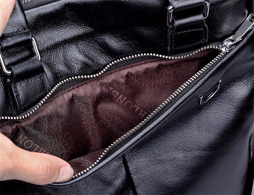 US $48.95 45% OFF|Echt Rindsleder Echtes Leder Herren Business Aktentasche Handtasche Schulter Tasche Männer Messenger Taschen Hochschule in