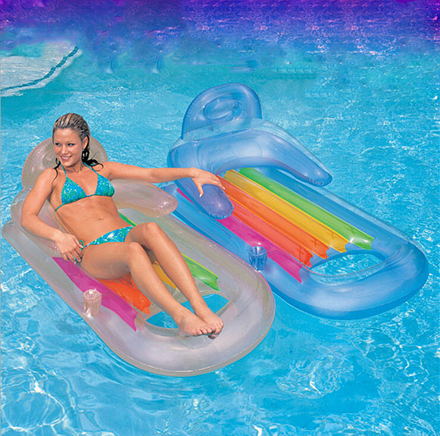 Big Size Inflatable Swimming Pool Kit Tool Floating Plate Outdoor Toy  Sleeping Pad Backrest Enjoy Novelty