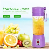 Portable 380ml USB Electric Fruit Juicer Handheld Smoothie Maker Blender Rechargeable Mini Portable Juice Cup Water