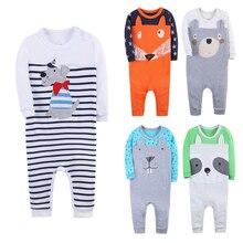 Купить с кэшбэком  Baby Boy Girl Clothes Suit 100% Cotton Rompers Long Sleeved Kawaii Animal Pattern Comfortable Newborn Baby Pajamas Kid Jumpsuit
