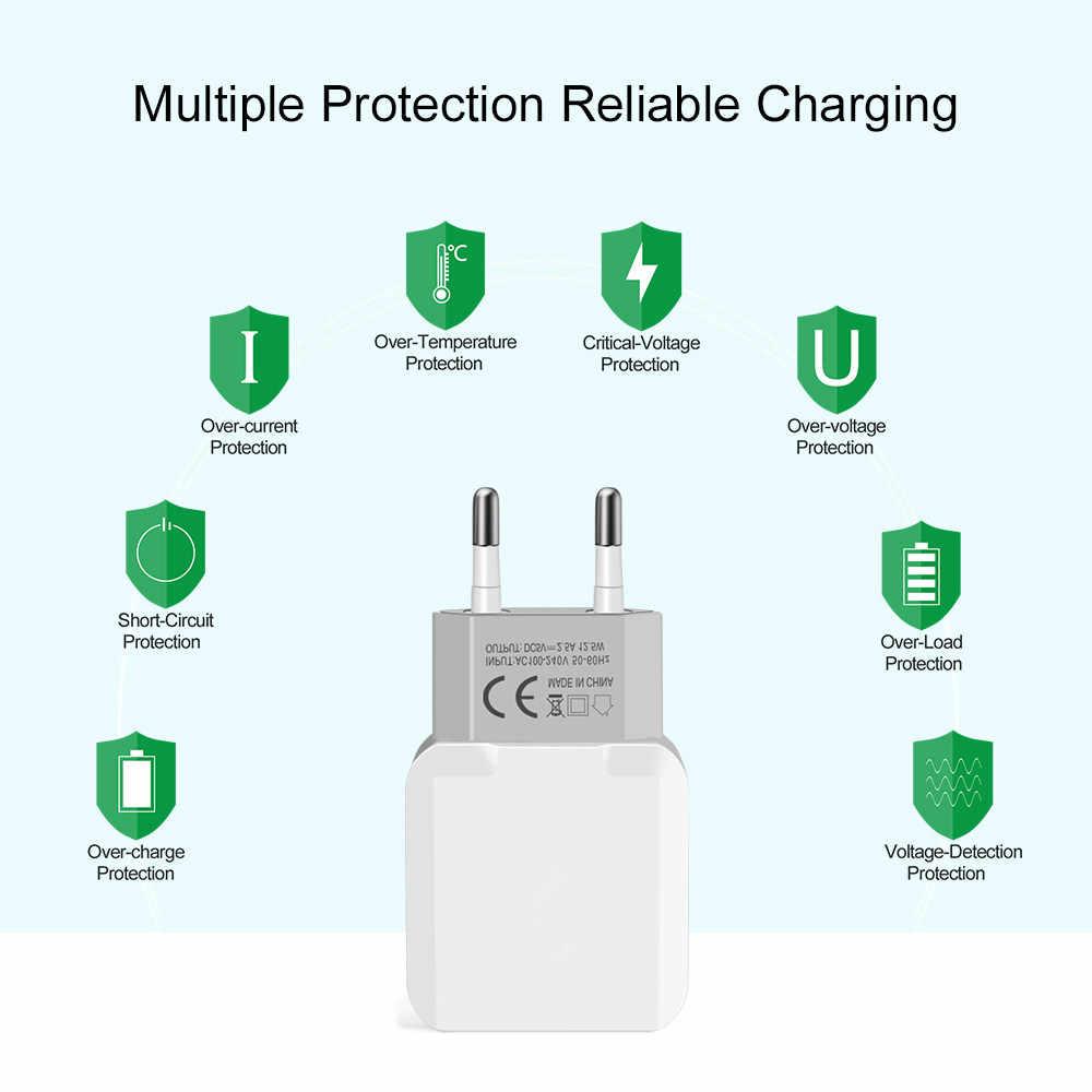 ユニバーサル 3 ポート USB 充電器旅行アダプター 5V 3.1A 壁ポータブル EU プラグ充電器携帯電話充電器 Iphone サムスン Xiaomi