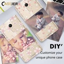CASEIER DIY Unique Phone Case For xiaomi redmi 4 4x 4A note MIX Silicone TPU Cases Redmi 3s Note Pro 5X S