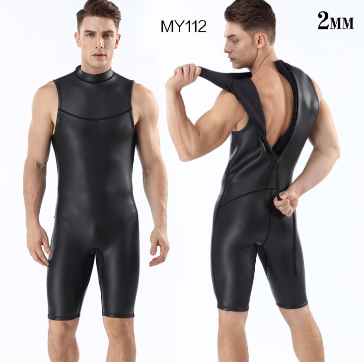 2MM CR light skin super missile diving suit shorts vest diving suit men s triathlon Free