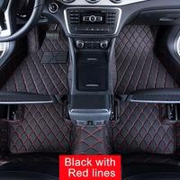 Car Floor Mats Case For Cadillac Escalade 5 7 Seats Customized Auto 3D Carpets Custom Fit