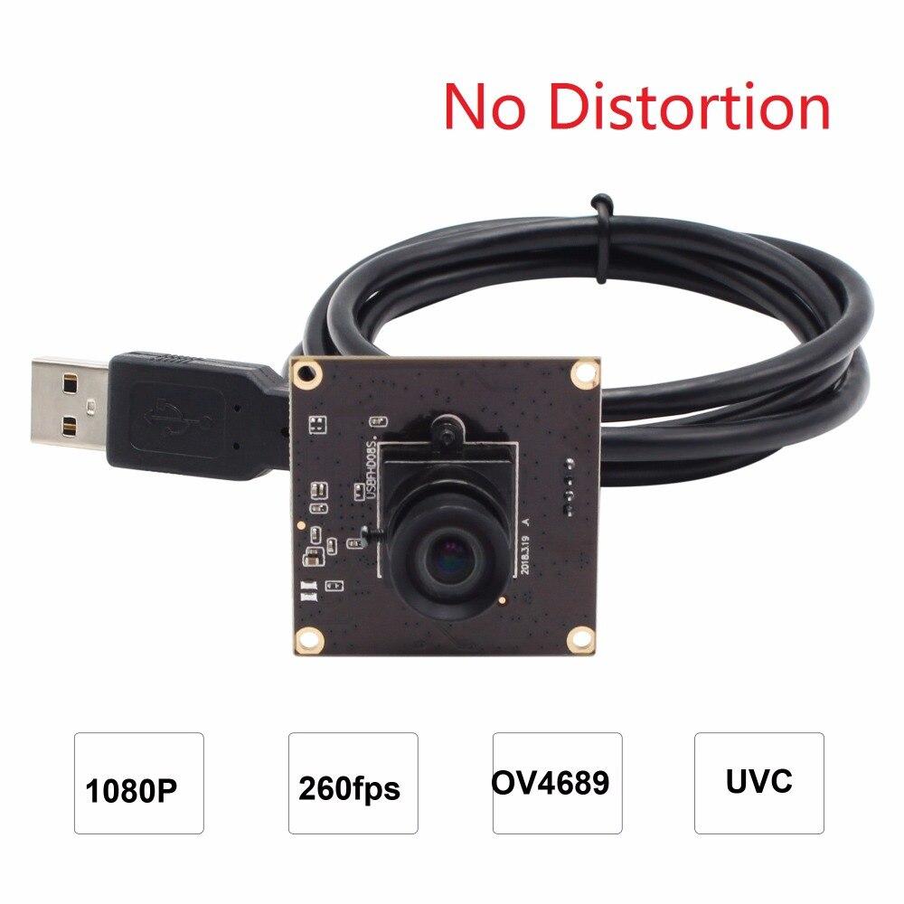 все цены на ELP No distortion USB Camera MJPEG 260fps 640X360/120fps 720P/60fps 1080P CMOS OV4689 Mini 260fps USB Industrial Camera онлайн